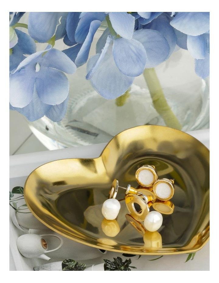 Oval Stud & Pearl Drop 2 Pack Earrings image 3