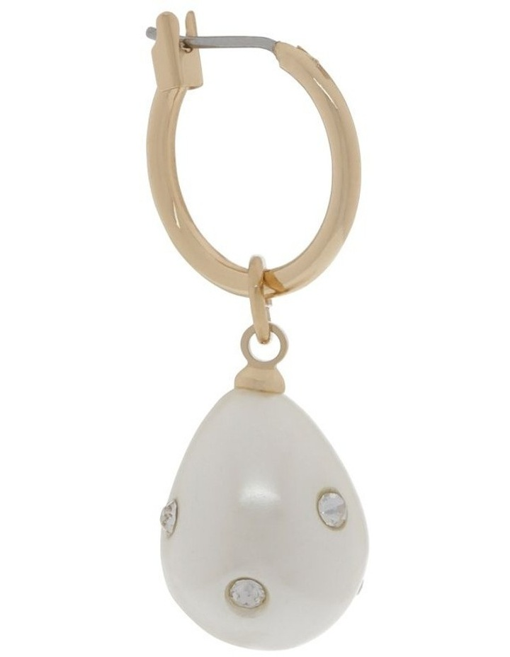 Diamante Pearl Drop Earrings image 2