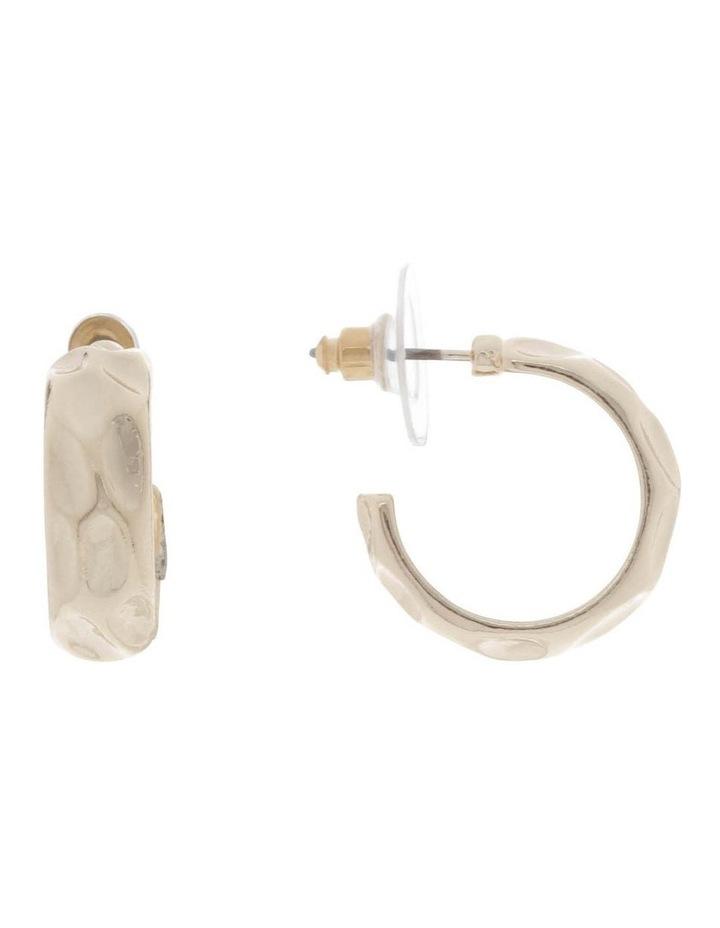 Medium Dimple Hoop Earrings image 1