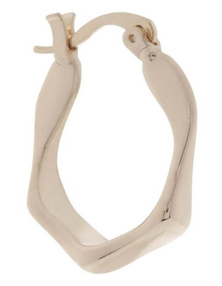 Medium Angular Hoop Earrings image 2