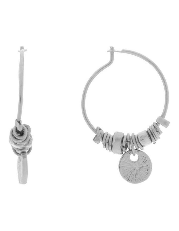 Mini Charm Hoop Earrings image 1
