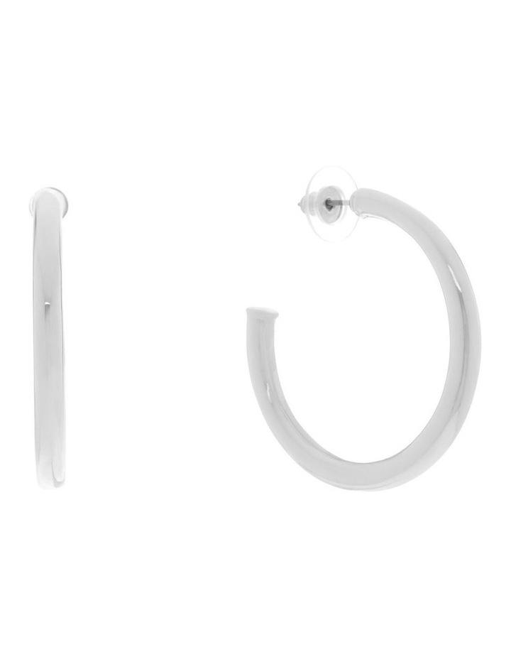 Large Classic Hoop Earrings image 2