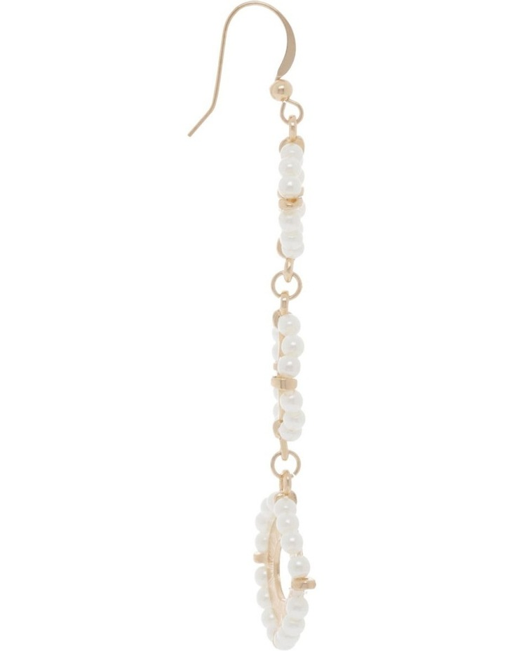 Tiered Pearl Flower Earring image 2