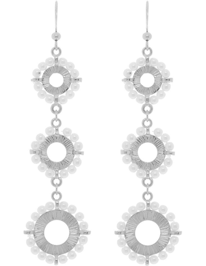 Tiered Pearl Flower Earring image 1