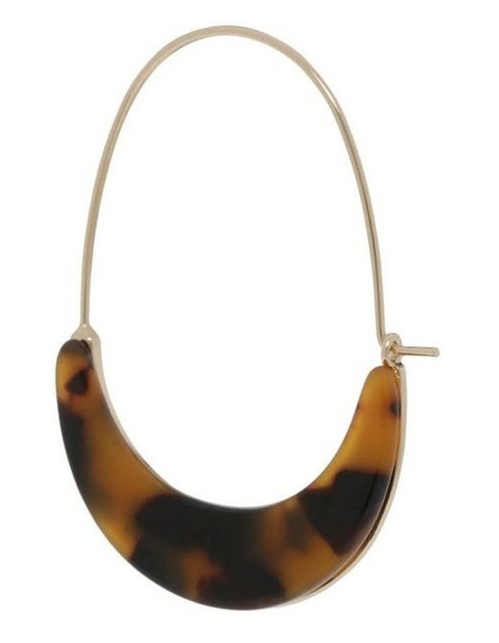 Acetate Crescent Hoop in Amber image 2