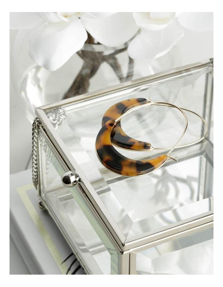 Acetate Crescent Hoop in Amber image 3