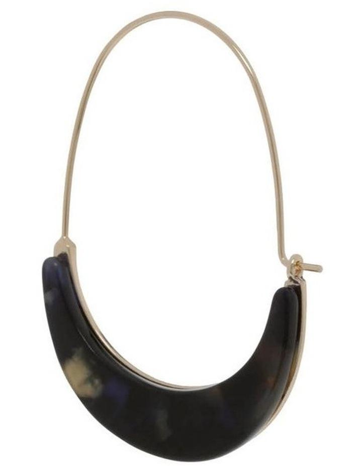 Acetate Crescent Hoop in Navy image 2