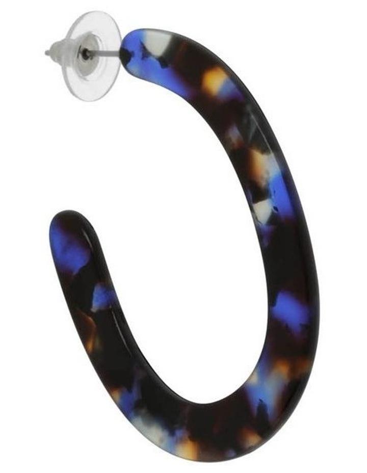 Acetate Oval Hoop in Navy image 2