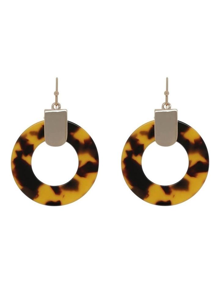 Acetate Circle Earring image 1