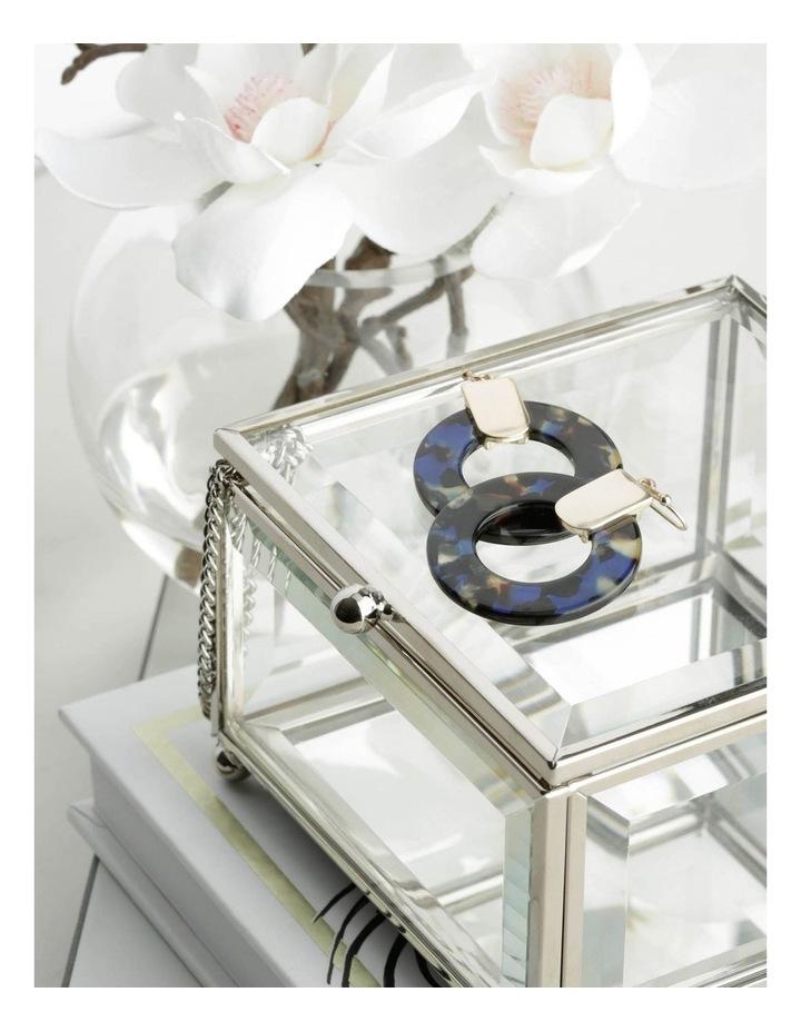 Acetate Circle Earring in Navy image 3