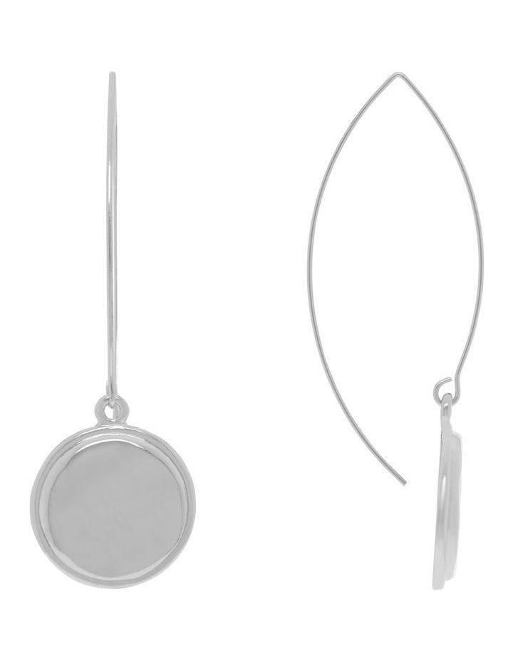 Beaten Pendant Drop Earrings image 1