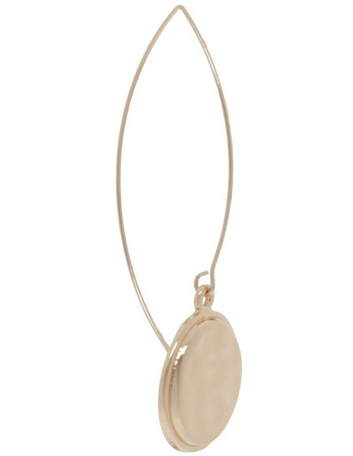 Beaten Gold Pendant Drop Earrings image 2