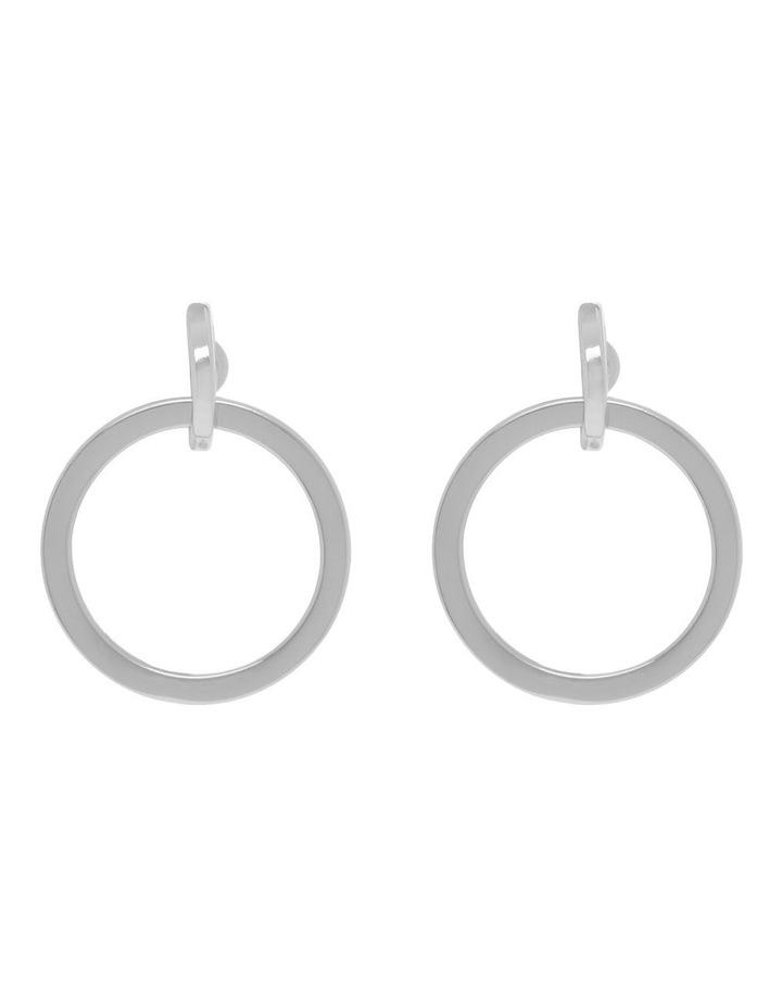 Double Circle Mini Earrings image 1