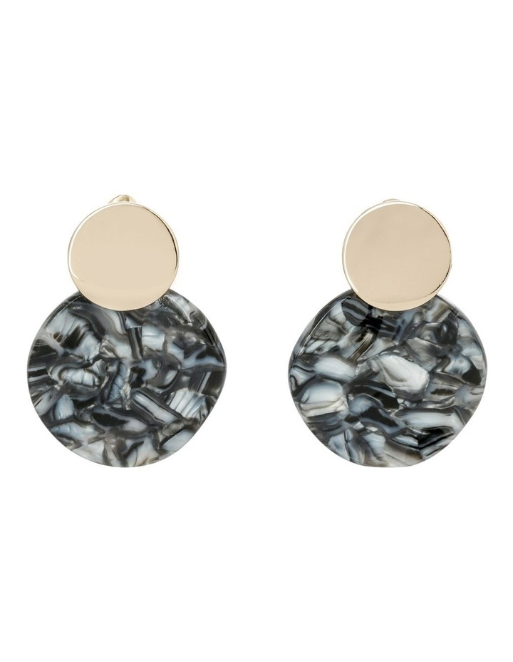 Double Circle Drop Earrings image 1
