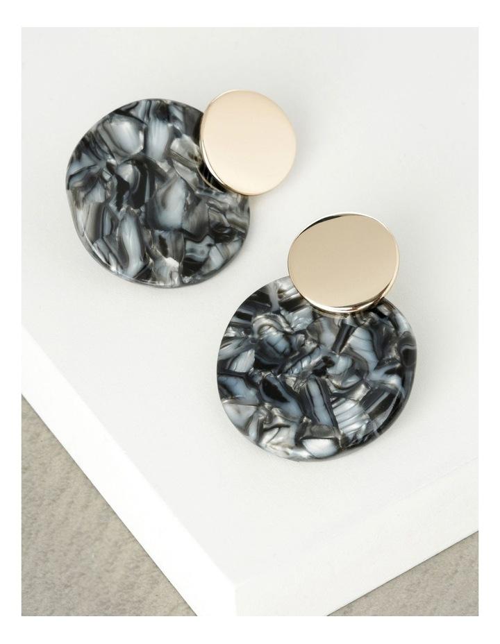 Double Circle Drop Earrings image 3