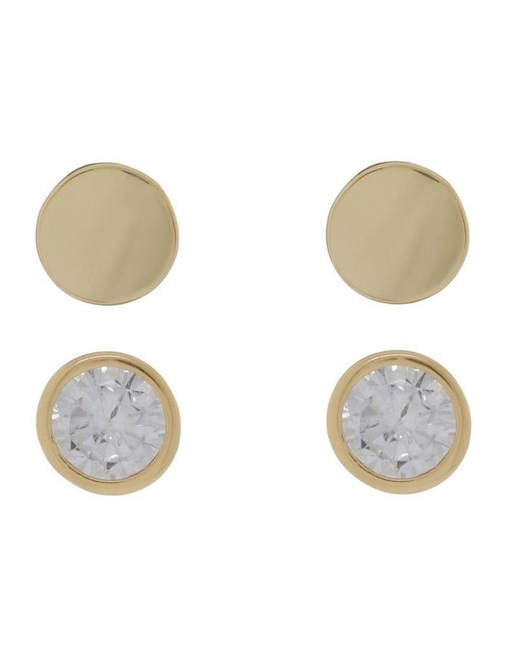 Disc Stud Earrings image 1