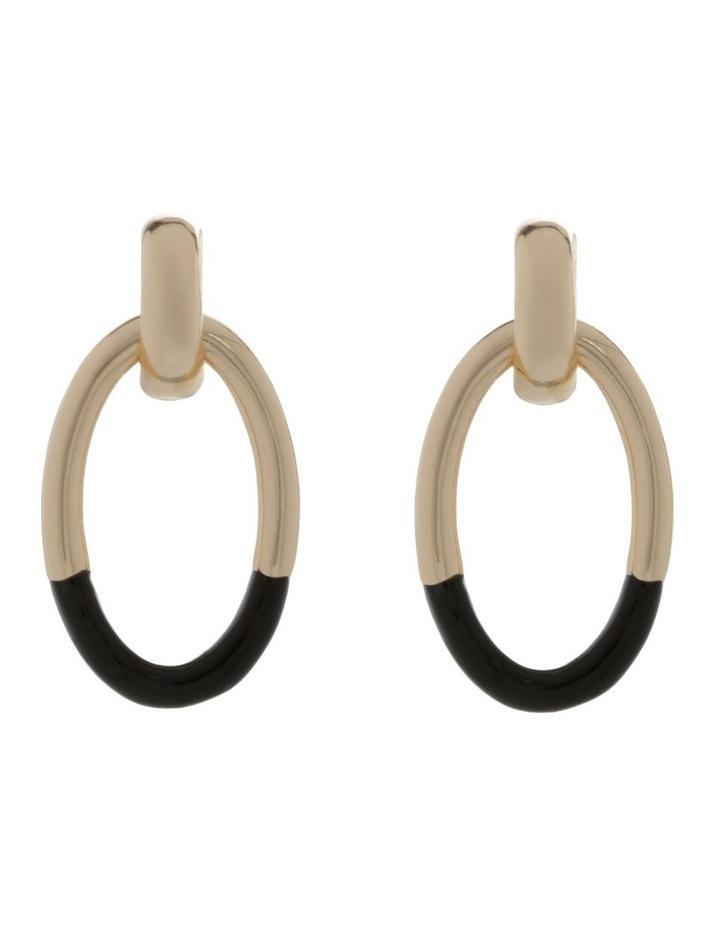 Large Hoop Drop Earrings image 1