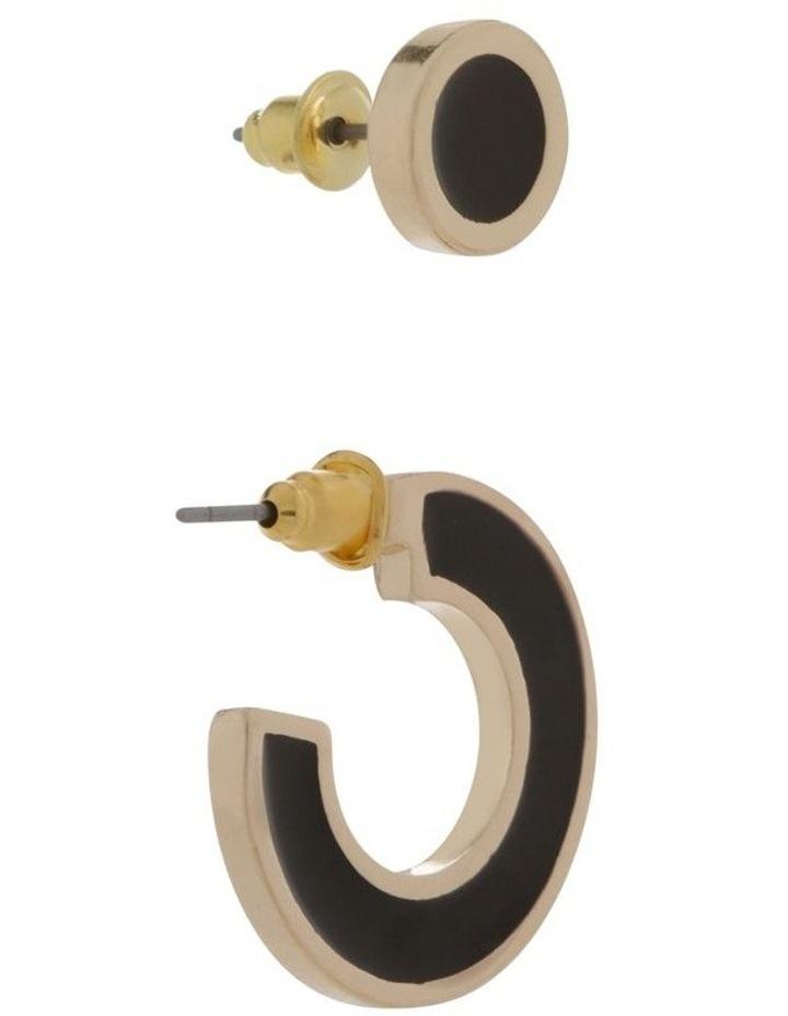 Enamel Stud & Hoop Set 2 Pack Earrings image 2
