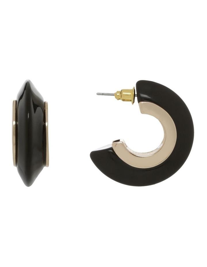 Half Hoop Resin Earrings image 1