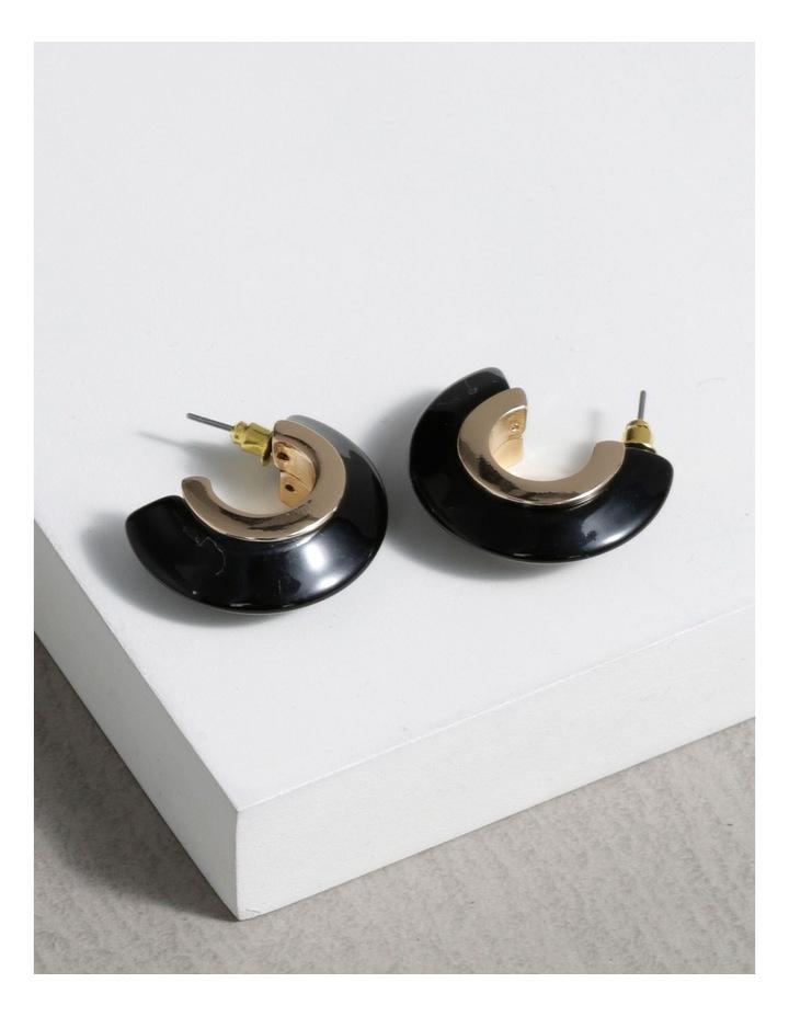Half Hoop Resin Earrings image 3