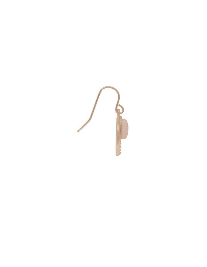 Teardrop Stone Charm Earrings image 2