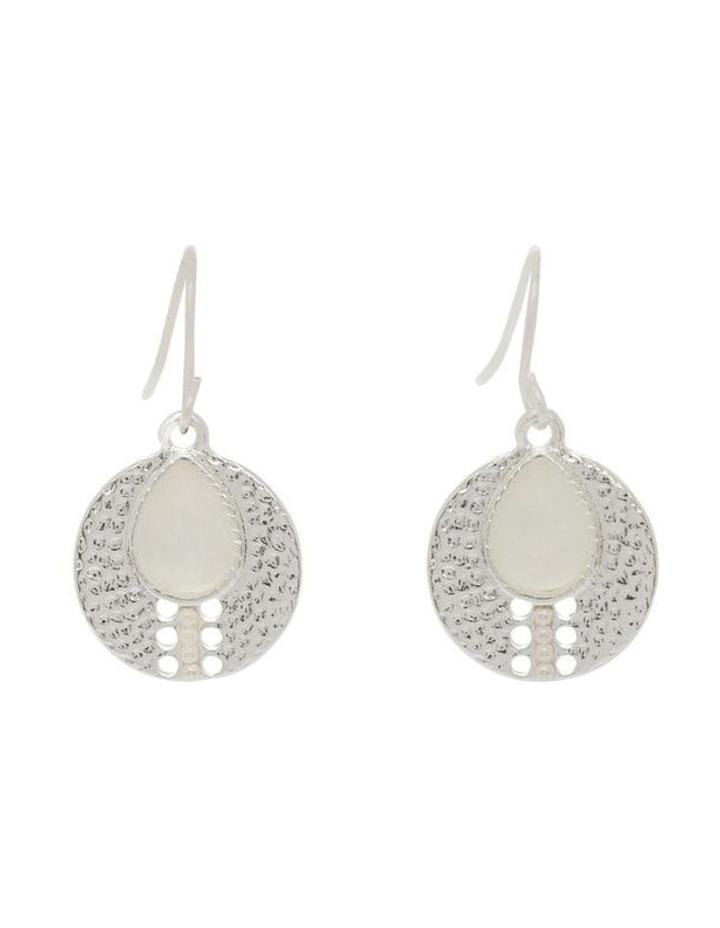 Teardrop Stone Charm Earrings image 1