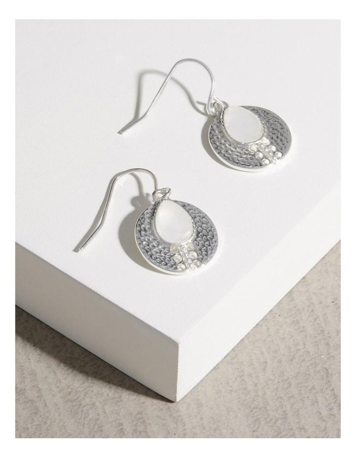 Teardrop Stone Charm Earrings image 3