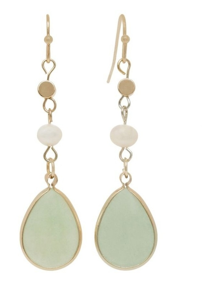 Real Stone and Pearl Earrings image 1