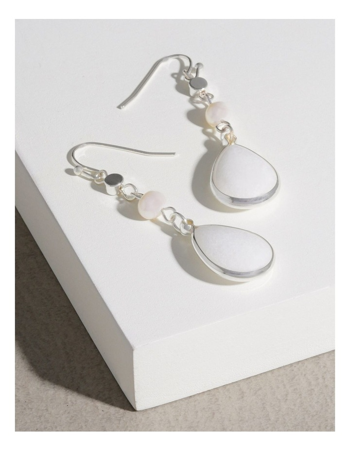 Real Stone and Pearl Earrings image 3