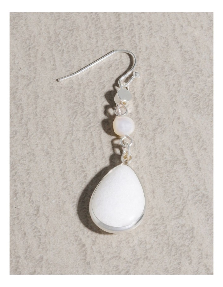 Real Stone and Pearl Earrings image 4