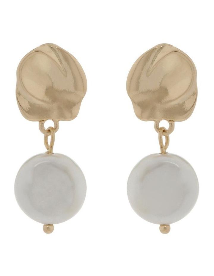 Organic Pearl Drop Earrings image 1