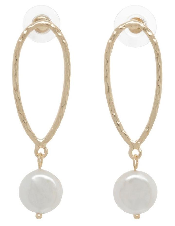 Molten Teardrop Pearl Earrings image 1