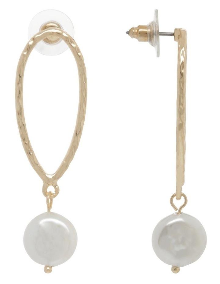 Molten Teardrop Pearl Earrings image 2