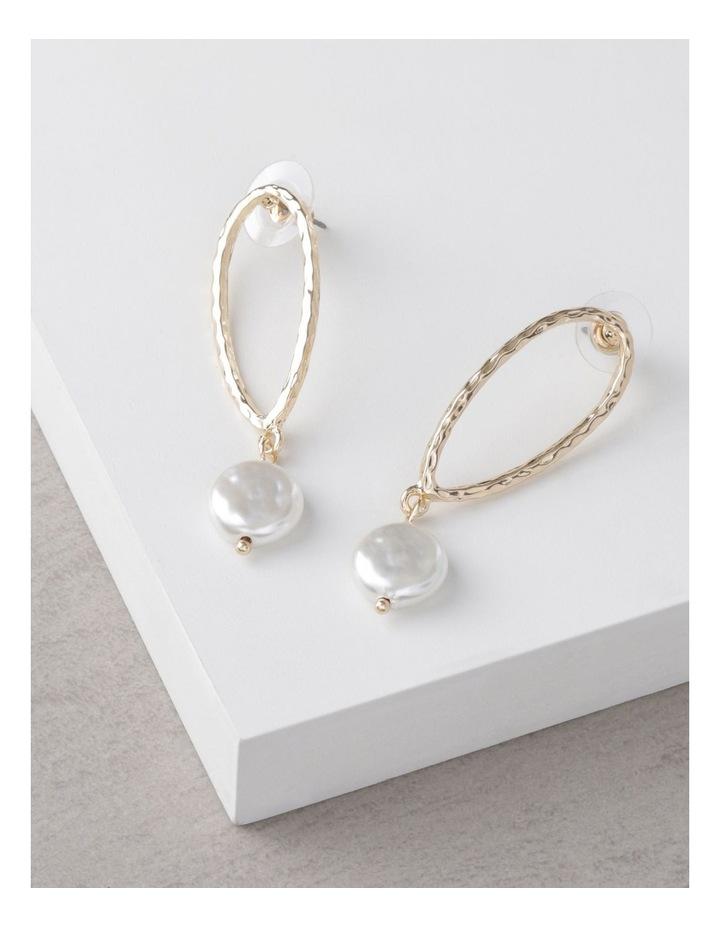 Molten Teardrop Pearl Earrings image 3