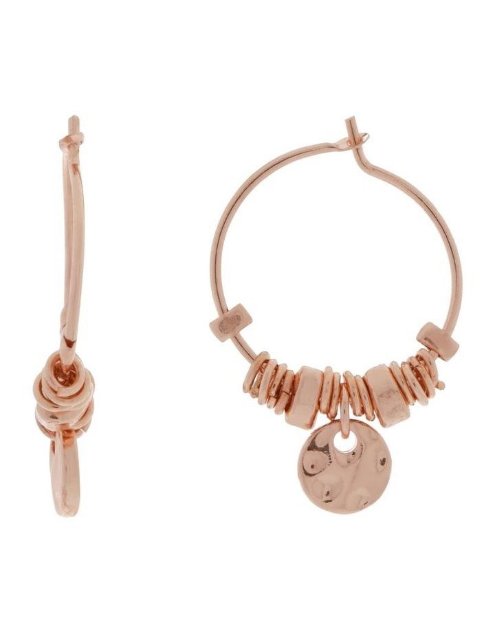Mini Charm Hoop Earrings image 1