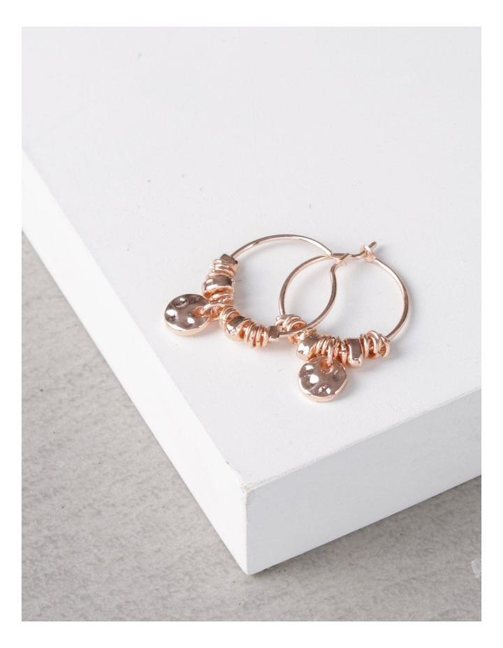 Mini Charm Hoop Earrings image 3