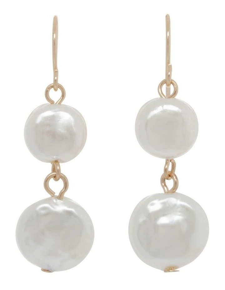 Double Drop Freshwater Pearl Earring image 1