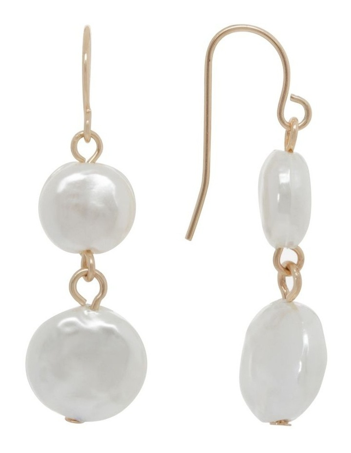 Double Drop Freshwater Pearl Earring image 2