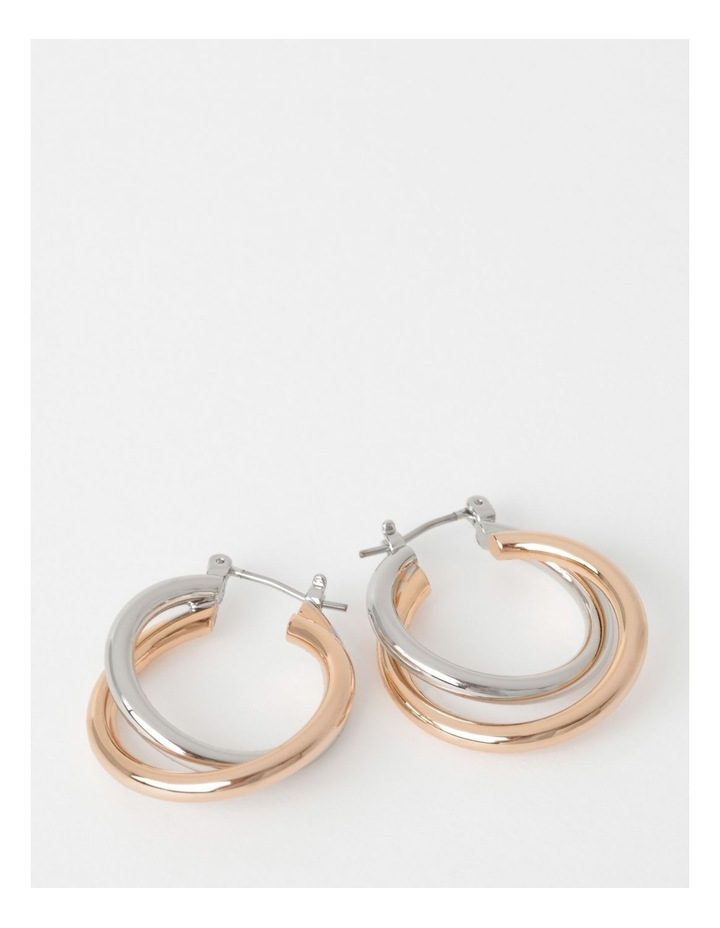 Double Circle Hoop Earring image 1