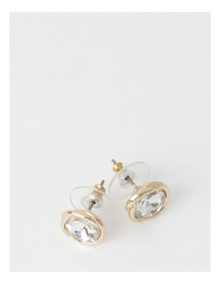 Elevated Crystal Stud Earring image 1