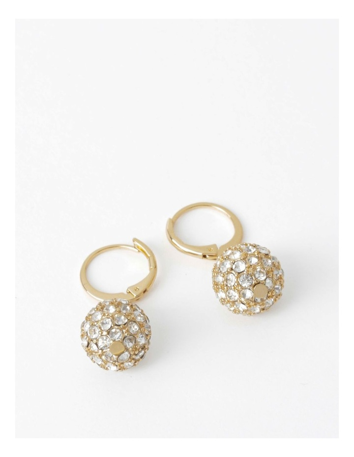 Mini Crystal Ball Drop Earring image 1