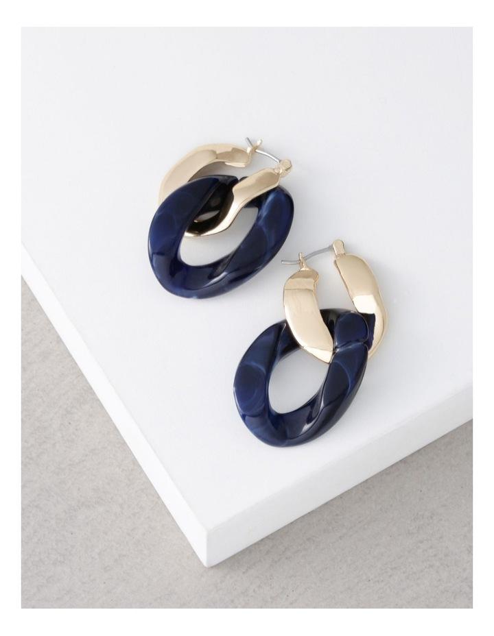 Chain Link & Acrylic Earrings image 3