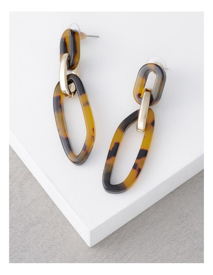 Acrylic & Metal Drop Earrings image 3