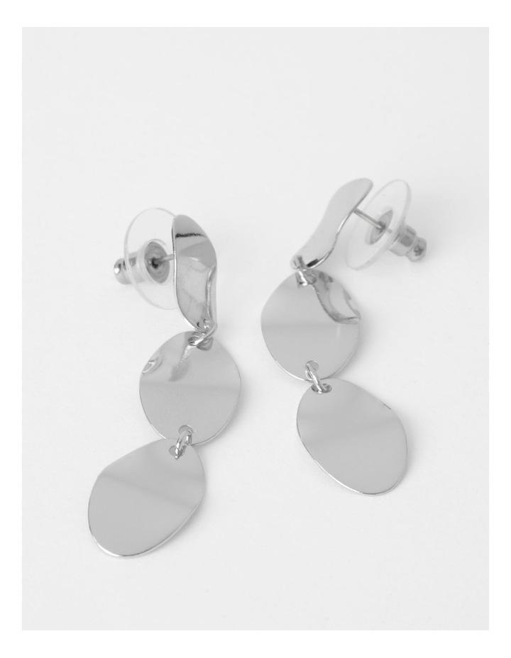 Triple Drop Disc Earring image 1