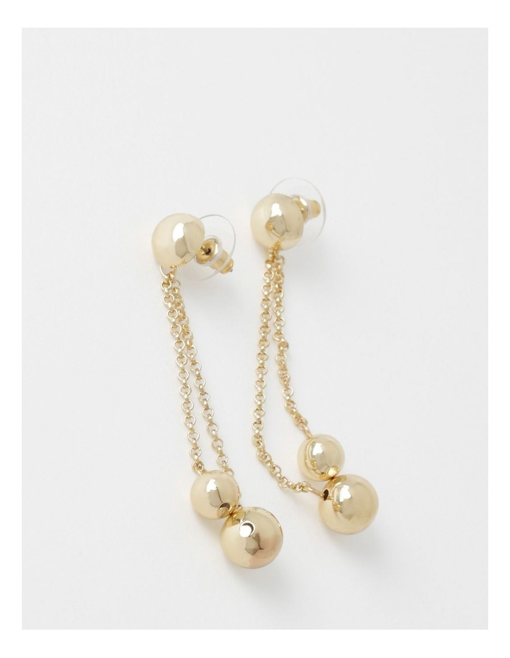 Double Ball & Chain Earring image 1