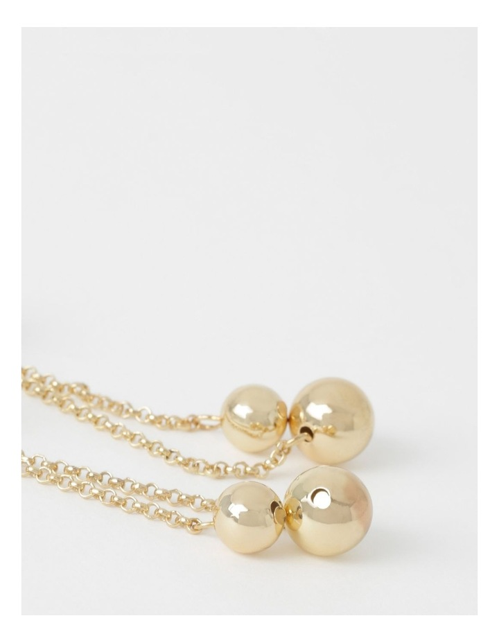 Double Ball & Chain Earring image 2