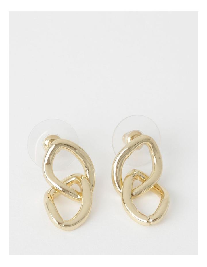 Dble Chain Link Drop Earrings image 1