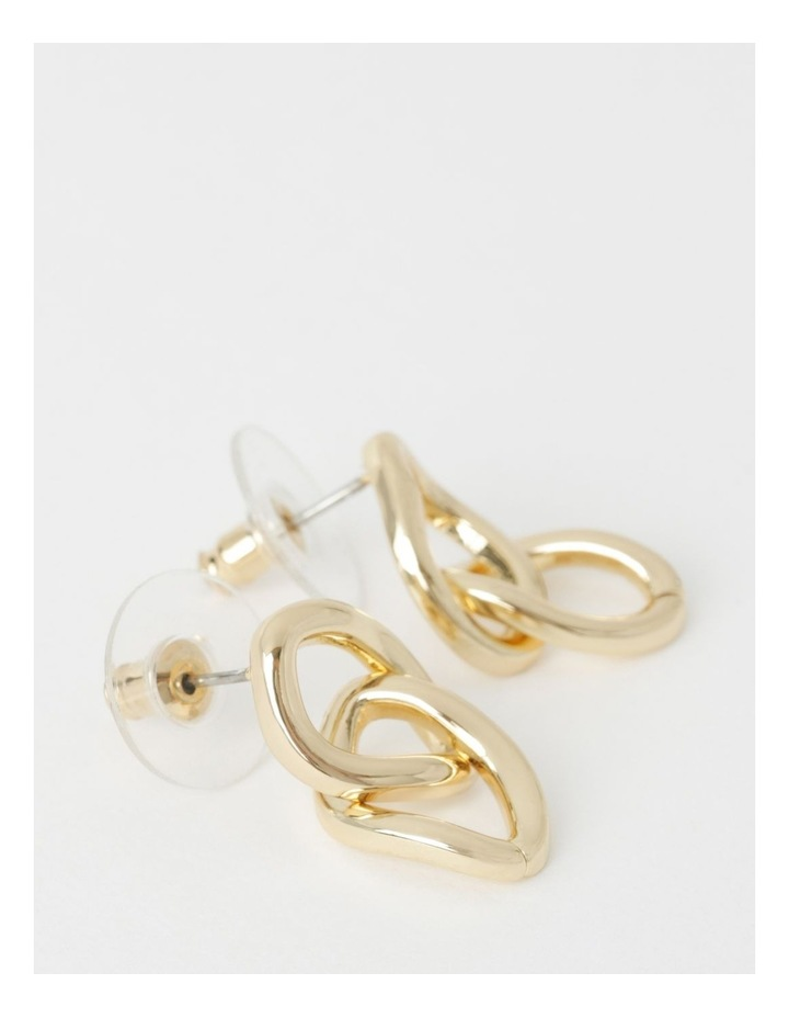 Dble Chain Link Drop Earrings image 2