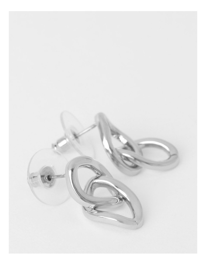Double Chain Link Drop Earrings image 2