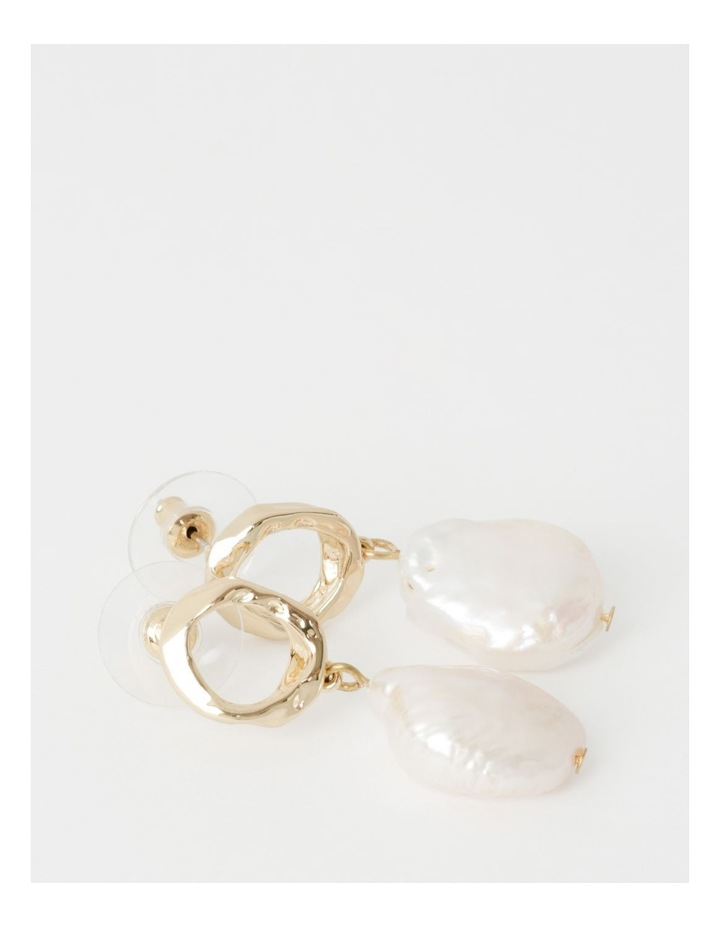 Freshwater Pearl & Gold Drop Earring image 2